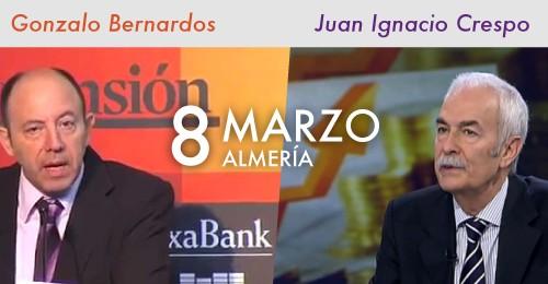 Con Gonzalo Bernardos y Juan Ignacio Crespo
